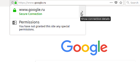 Просмотреть SSL сертификат